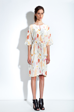 EMMY - PRINTED SILK DRESS